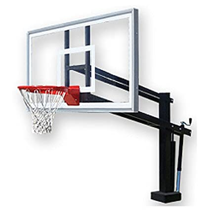 First Team Hydroshot Select Swimming Pool Basketball Hoop with 60 Inch  Acrylic Backboard