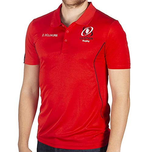 Kukri Ulster Rugby 18 Performance Athletic Fit Polo - Red