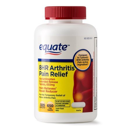 Equate Arthritis Pain Relief Extended Release Caplets, 650 mg, 325 Ct by Equate