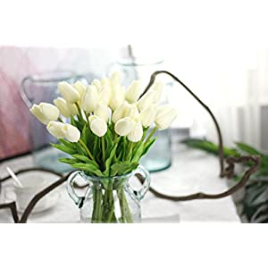 SHSYCER 20pcs Tulip Flower Home Garden Hotel Party Event Christmas Wedding Gift Decoration Artificial Flowers Nearly Natural 5