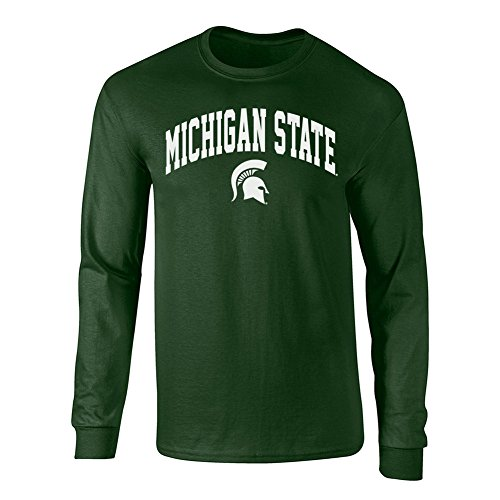 Michigan State Spartans Long Sleeve Tshirt Forest Green - 2XL