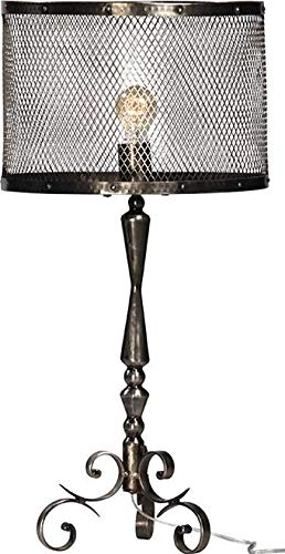 (Table Lamp Dovetail Ross 1-Light Antique Nickel Sealed Steel Iron New Han)