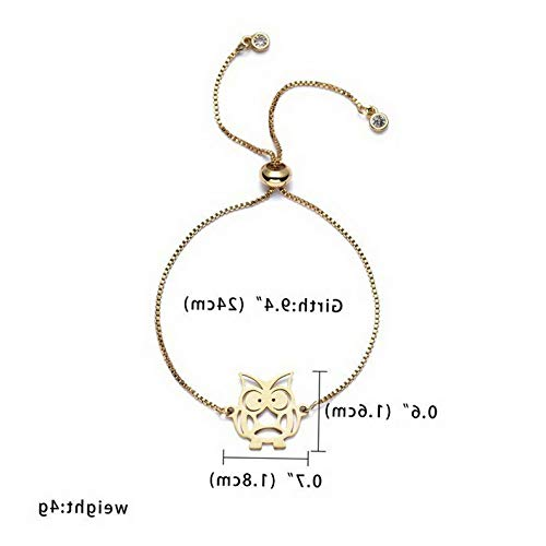 Mikash Women Gold Stainless Steel Love Heart Chain Cuff Bracelet Bangle Jewelry Gifts | Model BRCLT - 11559 |