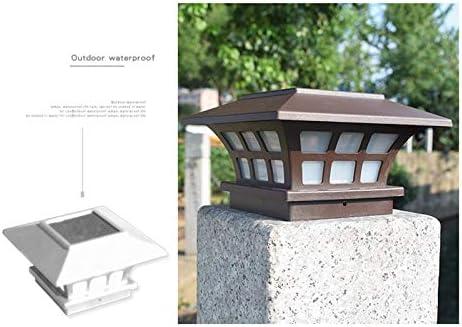 Cavis 2Pack Solar Post Lights Waterproof Outdoor Cap Lights for Wooden or Vinyl Posts Deck LED Lights