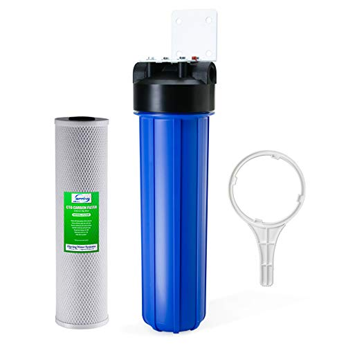 iSpring WGB12B 1-Stage Whole House Water Filtration system w/ 20-Inch Carbon Block