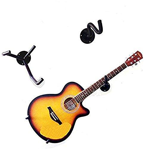 Guitar Wall Hanger Slatwall Horizontal Guitar Holder Bass Stand Rack Hook (Hanger Guitar Horizontal)