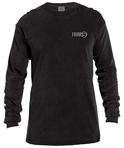 (NCAA Providence Friars Basketball Outline Long Sleeve Comfort Color Tee, Small,Black)