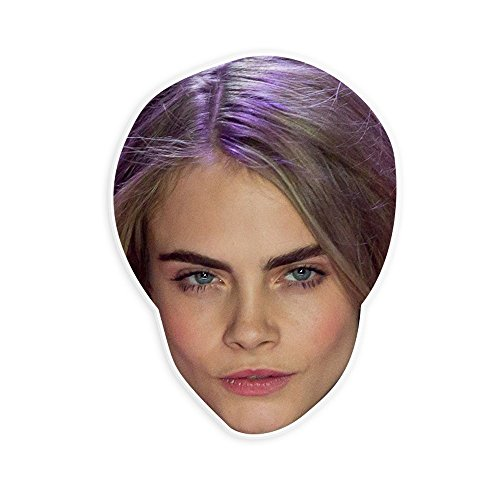 Unwelcome Greetings Sexy Cara Delevingne Mask - Perfect for Halloween, Masquerade, Parties, Events, Festivals, Concerts - Jumbo Size Waterproof Laminated