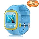 Smart Watch Kids, GPS Tracker Watch Touch Screen Watch Phone Sim Anti-lost SOS Wrist Watch Parent Control By Smartphone for Boys Girls (Blue)