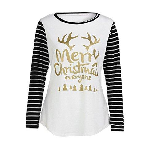 Karchi クリスマス Tシャツ レディース 丈長め 長袖 ボーダー ゆったり おしゃれ シンプル カットソー ストレッチ フェイクレイヤー トップス (XL 黒)