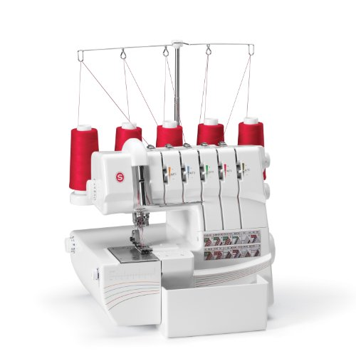 SINGER 14T968DC Professional 5 5-4-3-2 Thread Capability Serger Overlock with Auto Tension Portable Sewing Machine