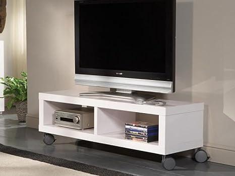 Mobile porta tv silver con ripiani regolabili e ruote