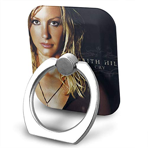 EdithL Faith Hill Cry Phone Ring Stand Holder Finger Grip Stand, Car Mount 360 Degree Rotation Universal Phone Ring Holder Kickstand for iPhone/iPad/Samsung ()