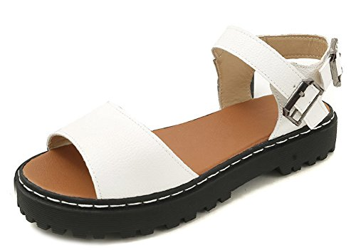 Sandals Platform Aisun Women's White Buckled Daily wC868q4