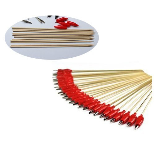Elife 50 pcs Alligator Clip Stick for Airbrush Hobby Model Parts