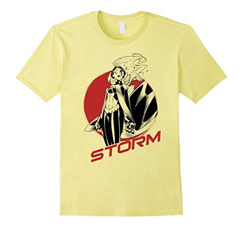 Stand Storm (Mens Marvel X-Men Storm Stand Alone Profile Badge Graphic T-Shirt 3XL Lemon)