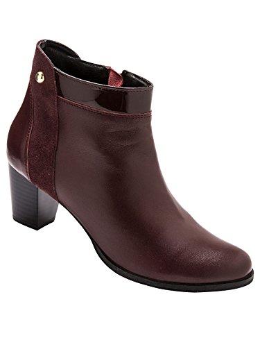 largeur Bordeaux zippés confort Boots Pediconfort wfCYgg