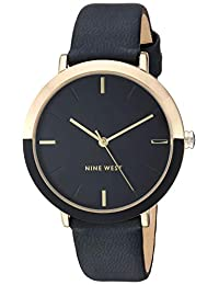 Nine West NW2346GPBK Reloj NINE WEST for Mujer, Negro, Mujer Estándar