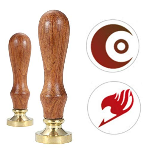 Fairy Tail Wax Seal Stamp, VIHOME NAKEO Mummy Seal Wax Stamp Vintage Retro Brass Head Wooden HandleGreat for Craft Gifts, Cards Envelopes and Invitations 2 Pack (Fairy ()