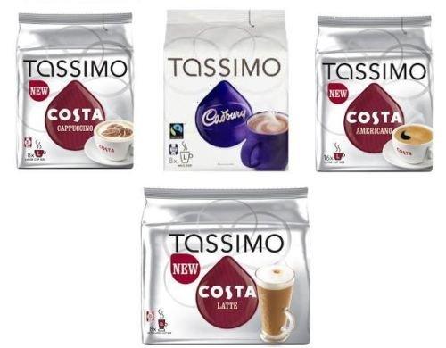 tassimo costa latte coffee discs - 5