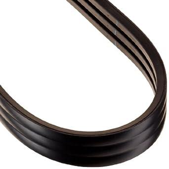 Gates 3//B62 Hi-Power II Powerband V-Belt 1-31//32 Overall Width 13//32 Height 65.0 Belt Outside Circumference B Section