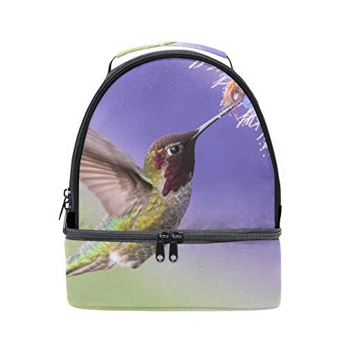 de pícnic ajustable flores doble y Bolso para correa almuerzo y pájaros ORwBxq