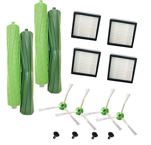 (B-Life Replacement roomba i7 Parts Filter Sets,Compatible for iRobot Roomba i7 i7+/i7 Plus E5 E6 E7 Replenishment Kits(4 High-Efficiency Filters,4 Edge-Sweeping Brushes,2 Debris Extractor))