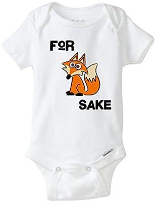 For Fox Sake Funny Baby Onesie Blakenreag Baby Boy Girl Clothes