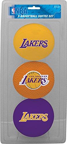 NBA Los Angeles Lakers Kids Softee Basketball (Set of 3), Small, Purple