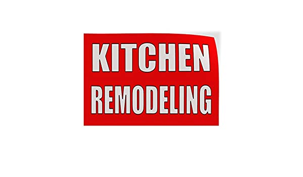 Decal Sticker Multiple Sizes Kitchen Remodel red White Business Reconstruct Kitchen Outdoor Store Sign Red Set of 2 52inx34in