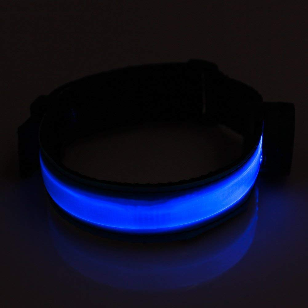 USB Rechargeable -Glovion LED Sport Armband Light -High Visibility Safety Gear for Night Running Jogging /& Cycling LED Armband Blue