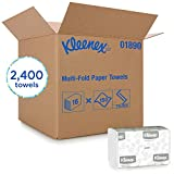 Kleenex Multifold Towels (01890), White, 16 Packs/Case, 150 Trifold Paper Towels/Pack, 2, 400 Towels/Case