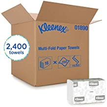 Kleenex Multifold Paper Towels (01890), White, 150 Tri Fold Paper Towels/Pack