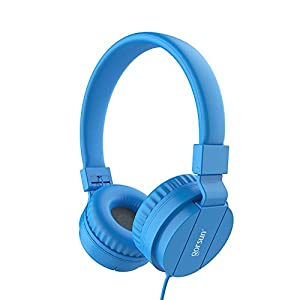 Kids Headphones for Boys, Comfortable Corded Foldable Headset for Children & Toddlers, Soft On-Ear Lightweight Child Earphones for Tablet, Cellphone, Computer, School & Kindergarten Kids (Blue)
