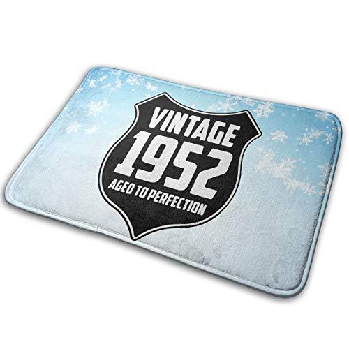 Rug 1952 (EWFXZq Vintage 1952 Doormat Anti-Slip House Garden Gate Carpet Door Mat Floor Pads 15.7