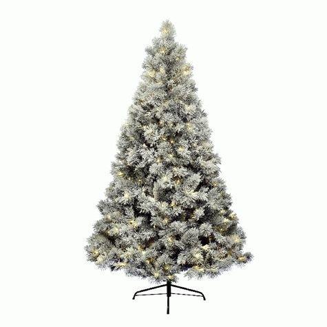 Kaemingk Snowy Vancouver 671512 Christmas Tree Indoor Transformer 384 Warm White LEDs Height 210 cm
