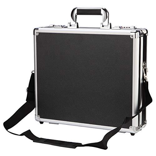 Aluminum Lock Combination - Aluminum Mens Attache Briefcase Business Hard Case Organizer with Password Lock