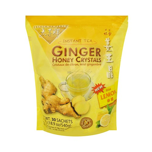 Prince of Peace® Instant Lemon Ginger Honey Crystals (30 Sachets) Pack of - Honey Crystal Ginger Tea Instant