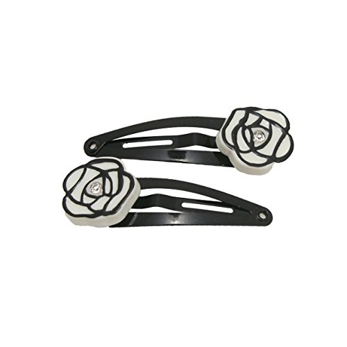 mia-snip-snaps-hair-barrettes-clips-chanel-inspired-white-rose-enamel-with-black-trim-and-rhinestone
