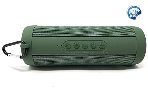 Middox Tech Rich Bass Series portable bluetooth 4.2 speaker with quality stereo sound 10-Hour Playtime, 33 ft bluetooth range 2000MaH wireless speaker for iPhone Ipad Samsung (Green RB)
