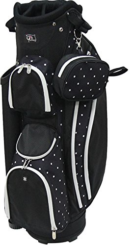 rj-sports-lb-960-ladies-cart-bag-with-3-pack-head-covers-9-polk-a-dot