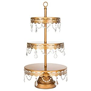 tall gold wedding cake stand antique gold 3 tier cupcake stand 20738