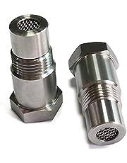 2 Pcs Oxygen Sensor Spacer O2 Sensor Bung Adapter Oxygen Sensor Bung Spacer Extension Extender M18x1.5, 304 Stainless Steel