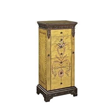 masterpiece quotantique parchmentquot hand painted jewelry armoire amazoncom antique jewelry armoire