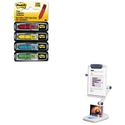 KITFEL21128MMM684SH - Value Kit - Fellowes Weighted Flex Arm Desktop Copyholder (FEL21128) and Post-it Arrow Message 1/2amp;quot; Flags (MMM684SH) (Fellowes Flex Arm)