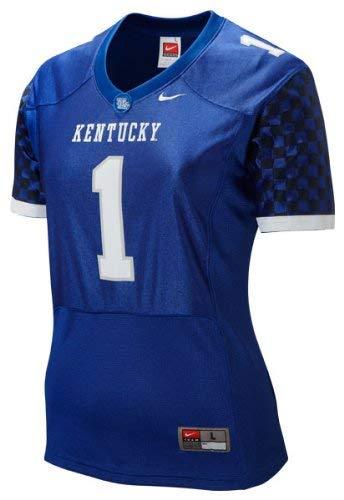 - Nike NCAA Kentucky Wildcats #1 Women's Replica Football Jersey - Royal Blue (X-Large)