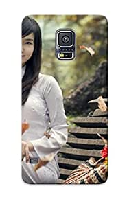 BMgBVcg2839QCHcE Anti-scratch Case Cover Loungeraqoz Protective Vietnamese Girl On The Bench Case For Galaxy S5
