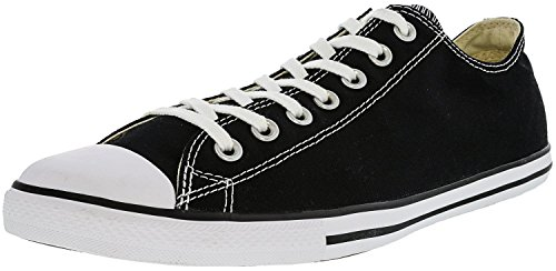 Converse Men's Chuck Taylor Lean Ox Trainers, Black, 9.5 US (Converse Chuck Taylor All Star Slim Ox Trainers)