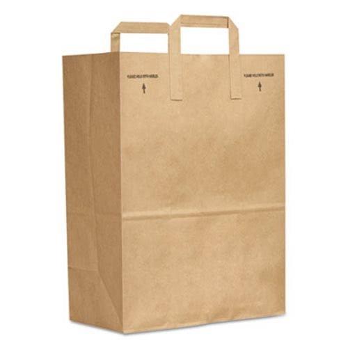 Paper Tote - General 1/6 BBL 70# Paper Bag, E-Z Tote Handle Sack, Brown, 300-Bundle - 300 paper bags per bundle.