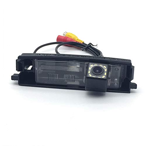 AupTech Car Rear View Camera with 12 LED for Toyota RAV4 2005~2012 (only for with Spare Wheel On Door) Waterproof CCD Reversing Parking Backup Camera HD Night Vision NTSC Type with RCA Video Cable
